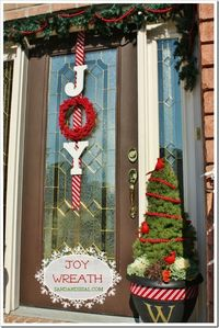 Prev postNext post Use your �† �†' (arrow) keys to browse Joy is on my door for a reason. Yes it looks festive and cute and appropriate for the season. I had to as