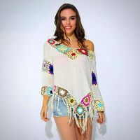 Ladies Pretty Colorful Boho Pullover Blouse $28.99
