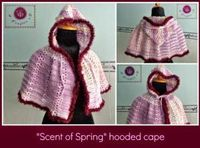 Scent of Spring Hooded Cape ~ Maz Kwok's Designs