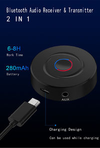 Bakeey BT-201 2 in 1 bluetooth 5.0 Adatper 3.5mm AUX Jack Audio Wireless Receiver Transmitter For Car TV PC Speaker Headphone