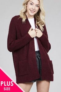 Ladies fashion plus size dolmen sleeve open front surplice back construction sweater cardigan $34.50 (20% off with CODE: BESTDEAL)
