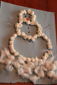 This marshmallow snowman craft is a seasonal way to stay warm and work on fine motor skills! It's been a little snowy outside and Henry has yet to actually get