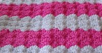 Pink and White Shells Baby Afghan (Free Pattern)