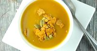 This easy to prepare pumpkin soup is full of rich spices for a delicious twist on traditional pumpkin soup that is perfect for a chilly fall night.
