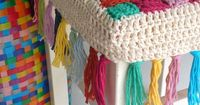 Free crochet tutorial (images) for stool cover