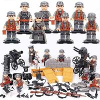 German Soldiers WW2 8-Pack with Weapons, Cannons & Barricades $24.90