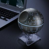 Be part of the Treble Alliance and take control of your music sound system with the iHome Death Star Bluetooth speaker from ThinkGeek.