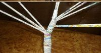 DIY Fabulous Newspaper Tree