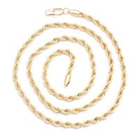MEN'S GOLD PLATED IRON ROPE CHAIN 4MM 24 INCHES HIP HOP BLING CHAIN NECKLACE  Special Features: Specially designed to look like a necklace that cost thousands Dimensions: Length : 24 inches, Width : 4mm