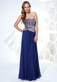 2014 Blue Sparkly Top Long Prom Dresses Sale