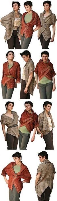 """Endless Crochet Cardi Shawl"", pattern by Jennifer Hansen at Stitch Diva Studios"