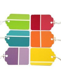 Paint Chip Gift Tags Cheap-Just buy string. Dang, I really need to get some paint chips.