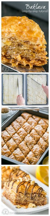 This baklava is flaky, crisp, tender and I love that it's not overly sweet. No store-bought baklava can touch this!   natashaskitchen.com