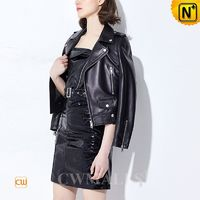 Haute Couture | Women Leather Biker Jacket CW619129 | CWMALLS.COM