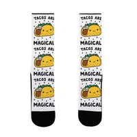 Tacos Are Magical US Size 7-13 Socks $16.99 �œ�Handcrafted in the USA! �œ�