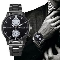 Fashion Men Crystal Stainless Steel Analog Quartz Wrist Watch Bracelet $7.04