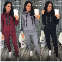 $19.08 Aliexpress - Autumn Winter 2 Piece Set Women Hoodie Pants Printed Tracksuit Pullover Sweatshirt Trousers With Pockets Tracksuit Suits. Buy it from Aliexpress.com