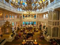 When you arrive at the Grand Floridian Resort at Walt Disney World by way of the Monorail, you walk in on the