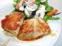 Clean Eating Stuffed Cabbage Rolls #cleaneating #eatclean