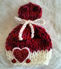 Newborn Valentines Day Lolly Top Hat - $20 - Available at http://www.zibbet.com/AngelsPurplePantry