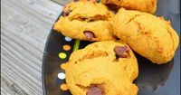 Pumpkin Chocolate Chip Cookies III - we're just not ready to give up Fall yet :) Very good, cake-like cookies. I added some pumpkin spice and more pumpkin per suggestions and they were really good! #Pumpkin #Fall