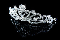 Elegant Created Clear Crystal Hair Jewelry & Wedding Headpieces & Tiaras