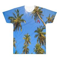 Los Angeles Palm Tree All-Over Printed T-Shirt $31.00