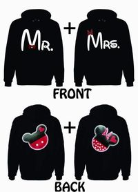 Mr. and Mrs. He's Mine Mickey 2 Hoodie Sweatshirt for couples......would love to see my husband wear one of these!