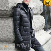 CWMALLS® Omaha Quilted Leather Down Coat CW807202