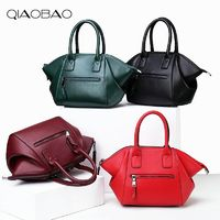 QIAOBAO 100% Genuine Leather handbag Cowhide bag smiley face R670.40
