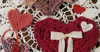 Crochet heart valentine pattern. From thread to fabric strips, these are easy and fast.