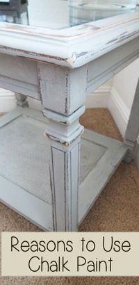 Reasons to use chalk paint when painting furniture