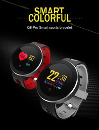 Q8 Pro OLED Touch Screen IP68 Heart Rate Blood Pressure Monitor Camera Music Control Weather Display Smart Watch