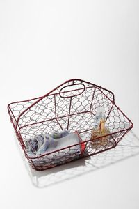 Awesome little vintage-looking wire tote. If I were still in college living in a dorm, this would make the most rad shower tote ever.