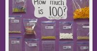 """Homework"" for the 100th Day of School: send home a baggie to be filled with 100 items (plus other ideas in article)"