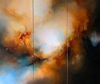 Large, Abstract triptych painting on canvas by Simon Kenny $8420.00