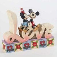 Disney Traditions by Jim Shore Love Inspirational Word Plaque 4-3/4-Inch