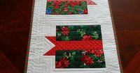 Quilted Christmas Table Runner Holiday Gift by HeartfeltStitchery