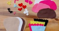 "Build a felt cupcake- flannel board fun for ""C"" week"