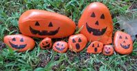 Make Pumpkin Rocks~ Collect some cool rocks and paint them like pumpkins. (Add some instruments and make them a pumpkin rock band!)