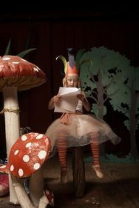 A papier-mache mushroom is lightweight. Customize it to your preferred size and colors. This colorful prop is fun and easy to make at home.
