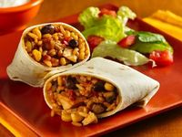 Hamburger Helper® chicken fried rice mix jump-starts a south-of-the-border burrito dinner.