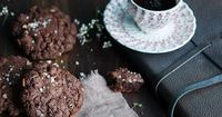 Chocolate Chip Cookies with Coffee, Orange & Pecans via Gourmantine #recipe
