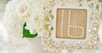 Shabby Chic Wedding Table Numbers - PHOTO SOURCE �€� HARWELL PHOTOGRAPHY