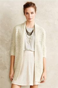 Basketweave Cardigan #anthropologie. $128. We love cozy-chic layers that blur the line between blanket and sweater, like this so-soft open-front cardigan from Asilio. We'd add dark denim and chunky heels for an early-autumn look.