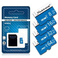 Xoueshone 16GB 32GB 64GB Class 10 High Speed TF Flash Memory Card with SD Adapter for Mobile Phone