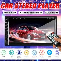 7033 7 Inch Double 2DIN Car MP5 Player FM Radio Stereo TF Card USB Port With Rear Camera
