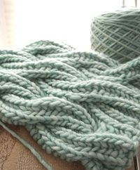 Watery Wavy Brioche Cable Scarf by kcc 138, - free knit pattern. Based on the Reversible Cabled Brioche Stitch Scarf by Saralyn Harvey