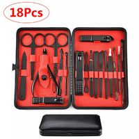 18 Pcs Stainless Steel Personal Manicure Set Pedicure Travel Grooming Kit Nail Art Set