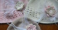 Ravelry: Easy Baby Lace Band Flower Hat 0-12 mos pattern by Stacey Tallman